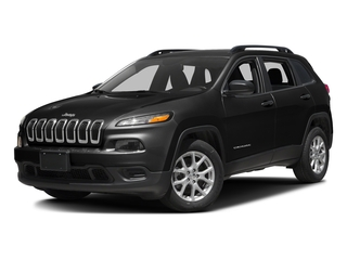 Diamond Black Crystal Pearlcoat 2017 Jeep Cherokee Pictures Cherokee Sport 4x4 photos front view