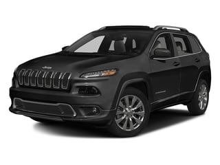 Diamond Black Crystal Pearlcoat 2017 Jeep Cherokee Pictures Cherokee Utility 4D Overland 4WD photos front view