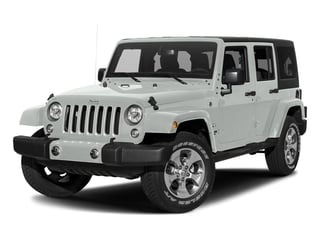Bright White Clearcoat 2017 Jeep Wrangler Unlimited Pictures Wrangler Unlimited Sahara 4x4 photos front view