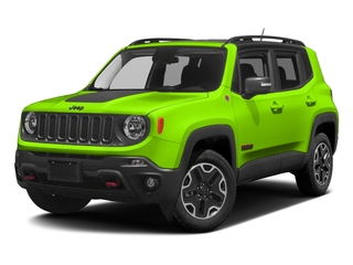 Hypergreen Clearcoat 2017 Jeep Renegade Pictures Renegade Utility 4D Trailhawk AWD photos front view