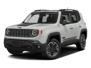 Alpine White 2017 Jeep Renegade Pictures Renegade Utility 4D Trailhawk AWD photos front view