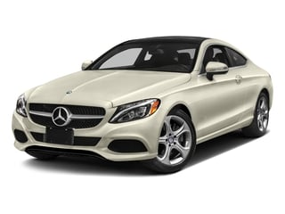 designo Diamond White Metallic 2017 Mercedes-Benz C-Class Pictures C-Class Coupe 2D C300 AWD photos front view