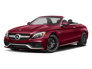 designo Cardinal Red Metallic 2017 Mercedes-Benz C-Class Pictures C-Class Convertible 2D C63 AMG V6 Turbo photos front view