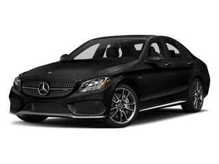 Obsidian Black Metallic 2017 Mercedes-Benz C-Class Pictures C-Class Sedan 4D C43 AMG AWD V6 Turbo photos front view