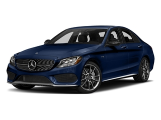 Brilliant Blue Metallic 2017 Mercedes-Benz C-Class Pictures C-Class Sedan 4D C43 AMG AWD V6 Turbo photos front view