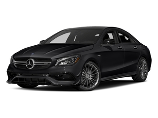 Cosmos Black Metallic 2017 Mercedes-Benz CLA Pictures CLA Sedan 4D CLA45 AMG AWD I4 Turbo photos front view