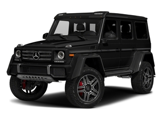 Obsidian Black Metallic 2017 Mercedes-Benz G-Class Pictures G-Class G 550 4x4 Squared SUV photos front view