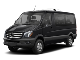 Jet Black 2017 Mercedes-Benz Sprinter Passenger Van Pictures Sprinter Passenger Van 2500 Standard Roof I4 144 RWD photos front view
