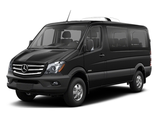 Obsidian Black Metallic 2017 Mercedes-Benz Sprinter Passenger Van Pictures Sprinter Passenger Van 2500 Standard Roof I4 144 RWD photos front view
