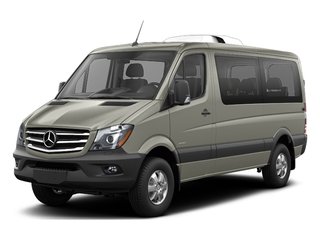 Pearl Silver Metallic 2017 Mercedes-Benz Sprinter Passenger Van Pictures Sprinter Passenger Van Passenger Van High Roof photos front view