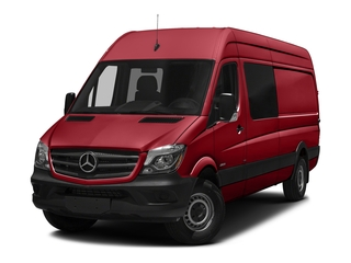 Flame Red 2017 Mercedes-Benz Sprinter Crew Van Pictures Sprinter Crew Van 2500 High Roof I4 170 RWD photos front view