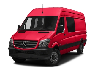 Coca Cola Red 2017 Mercedes-Benz Sprinter Crew Van Pictures Sprinter Crew Van 2500 High Roof I4 170 RWD photos front view