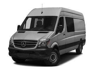Brilliant Silver Metallic 2017 Mercedes-Benz Sprinter Crew Van Pictures Sprinter Crew Van 2500 High Roof I4 170 RWD photos front view