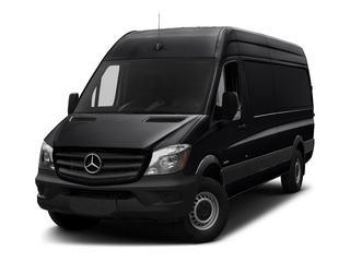 Jet Black 2017 Mercedes-Benz Sprinter Cargo Van Pictures Sprinter Cargo Van 3500 High Roof V6 170 Extended RWD photos front view
