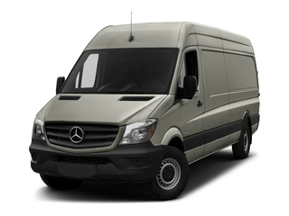 Pearl Silver Metallic 2017 Mercedes-Benz Sprinter Cargo Van Pictures Sprinter Cargo Van 3500 High Roof V6 170 Extended RWD photos front view