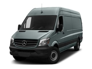 Silver Gray 2017 Mercedes-Benz Sprinter Cargo Van Pictures Sprinter Cargo Van 2500 High Roof V6 170 RWD photos front view