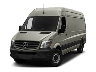 Pearl Silver Metallic 2017 Mercedes-Benz Sprinter Cargo Van Pictures Sprinter Cargo Van 2500 High Roof V6 170 RWD photos front view