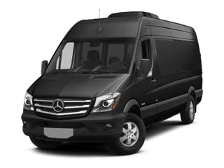 Obsidian Black Metallic 2017 Mercedes-Benz Sprinter Passenger Van Pictures Sprinter Passenger Van Extended Passenger Van High Roof photos front view