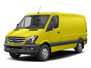 Calcite Yellow Metallic 2017 Mercedes-Benz Sprinter Cargo Van Pictures Sprinter Cargo Van 2500 Standard Roof I4 144 RWD photos front view