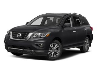 Magnetic Black Metallic 2017 Nissan Pathfinder Pictures Pathfinder Utility 4D SL 2WD V6 photos front view