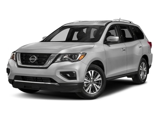 Brilliant Silver Metallic 2017 Nissan Pathfinder Pictures Pathfinder Utility 4D S 2WD V6 photos front view