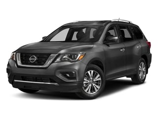 Gun Metallic 2017 Nissan Pathfinder Pictures Pathfinder Utility 4D S 2WD V6 photos front view