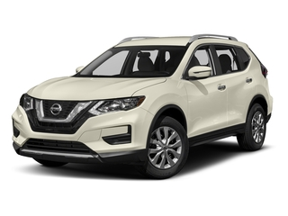 Pearl White 2017 Nissan Rogue Pictures Rogue Utility 4D SV 2WD I4 photos front view