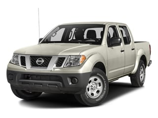 Glacier White 2017 Nissan Frontier Pictures Frontier Crew Cab S 4WD photos front view