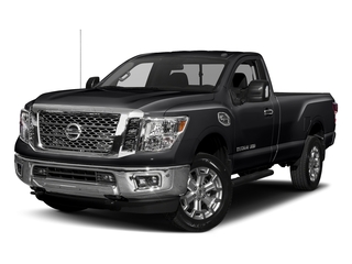 Magnetic Black 2017 Nissan Titan XD Pictures Titan XD Regular Cab SV 2WD photos front view