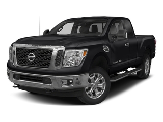 Magnetic Black 2017 Nissan Titan XD Pictures Titan XD Extended Cab PRO-4X 4WD photos front view