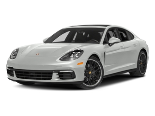 White 2017 Porsche Panamera Pictures Panamera Hatchback 4D 4 AWD V6 Turbo photos front view