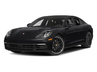 Black 2017 Porsche Panamera Pictures Panamera Hatchback 4D 4 AWD V6 Turbo photos front view
