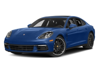 Sapphire Blue Metallic 2017 Porsche Panamera Pictures Panamera Hatchback 4D 4 AWD V6 Turbo photos front view