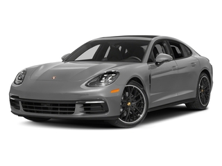 Rhodium Silver Metallic 2017 Porsche Panamera Pictures Panamera Hatchback 4D 4 AWD V6 Turbo photos front view
