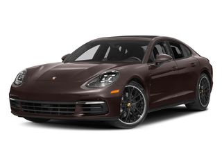 Mahogany Metallic 2017 Porsche Panamera Pictures Panamera Hatchback 4D 4 AWD V6 Turbo photos front view