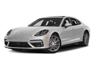 Carrara White Metallic 2017 Porsche Panamera Pictures Panamera Turbo Executive AWD photos front view