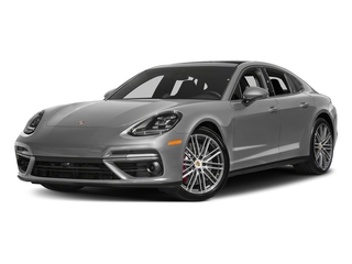 Rhodium Silver Metallic 2017 Porsche Panamera Pictures Panamera Turbo Executive AWD photos front view