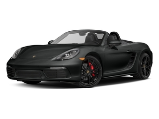 Jet Black Metallic 2017 Porsche 718 Boxster Pictures 718 Boxster Roadster 2D S H4 Turbo photos front view