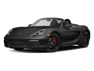 Black 2017 Porsche 718 Boxster Pictures 718 Boxster Roadster 2D S H4 Turbo photos front view