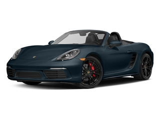 Night Blue Metallic 2017 Porsche 718 Boxster Pictures 718 Boxster Roadster 2D S H4 Turbo photos front view