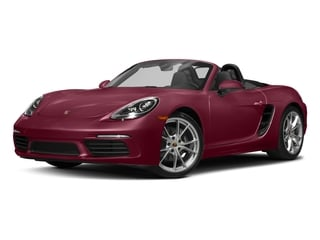 Carmine Red 2017 Porsche 718 Boxster Pictures 718 Boxster Roadster 2D H4 Turbo photos front view