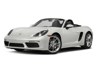 White 2017 Porsche 718 Boxster Pictures 718 Boxster Roadster 2D H4 Turbo photos front view