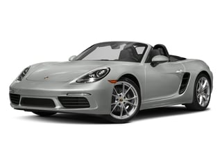 Rhodium Silver Metallic 2017 Porsche 718 Boxster Pictures 718 Boxster Roadster 2D H4 Turbo photos front view
