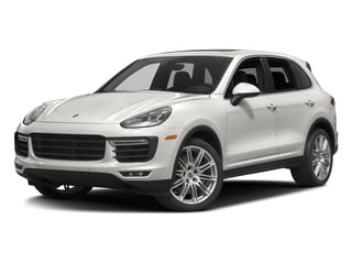 White 2017 Porsche Cayenne Pictures Cayenne Utility 4D S AWD V8 Turbo photos front view