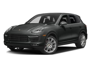 Jet Black Metallic 2017 Porsche Cayenne Pictures Cayenne Utility 4D AWD V8 Turbo photos front view