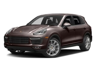 Mahogany Metallic 2017 Porsche Cayenne Pictures Cayenne Utility 4D AWD V8 Turbo photos front view