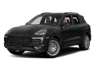 Jet Black Metallic 2017 Porsche Cayenne Pictures Cayenne Utility 4D Platinum AWD V6 photos front view