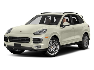 Carrara White Metallic 2017 Porsche Cayenne Pictures Cayenne Utility 4D Platinum AWD V6 photos front view