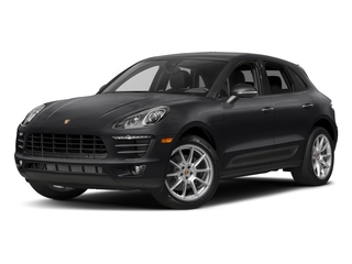 Black 2017 Porsche Macan Pictures Macan Utility 4D AWD I4 Turbo photos front view