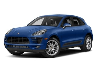 Sapphire Blue Metallic 2017 Porsche Macan Pictures Macan Utility 4D AWD I4 Turbo photos front view